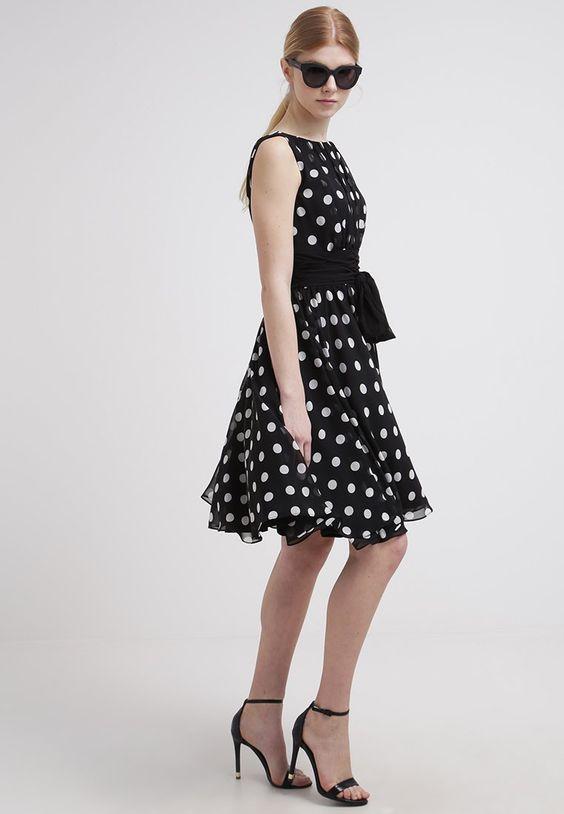 Swing Cocktailkleid / festliches Kleid - black/white - Zalando.de