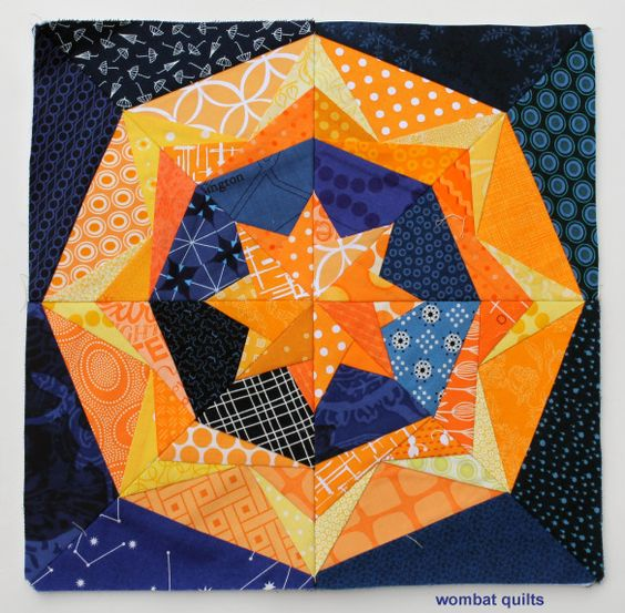 paper pieced star block // Wombat Quilts