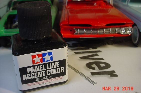 First time at using the Tamiya Black Detail Paint...excellent results on 59 El Camino Grille