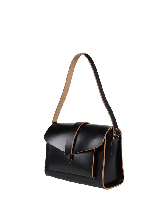 Black leather small handbags