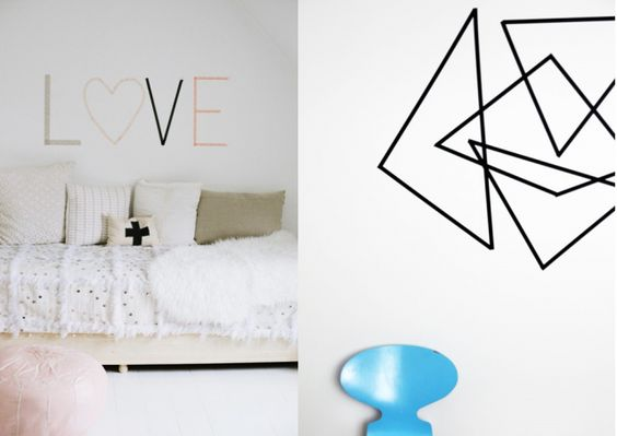 20 id es d co diy avec du masking tape ruban adh sif washi design et designs de blogs. Black Bedroom Furniture Sets. Home Design Ideas
