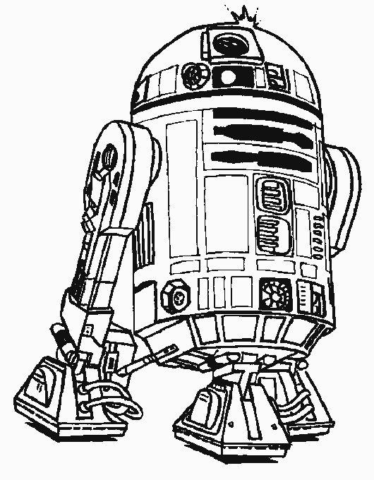 Robot R2D2 Star Wars Coloring