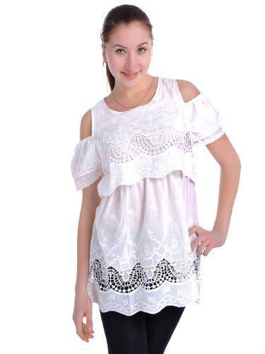 Anna-Kaci S/M Fit White Scallop Hem Off Shoulder Crochet Lace Ruffle Sleeve Top Anna-Kaci. $28.90