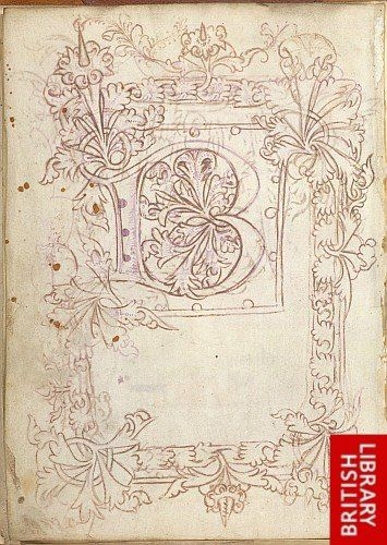 British Library, Sloane 1448A		 Title: Pattern, sketch, or model book Origin: England Date: 2nd or 3rd quarter of the 15th century Script: Gothic