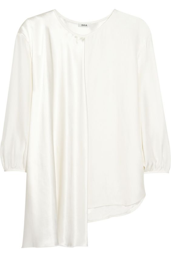 Brigette asymmetric silk-charmeuse top | Issa | CA | THE OUTNET