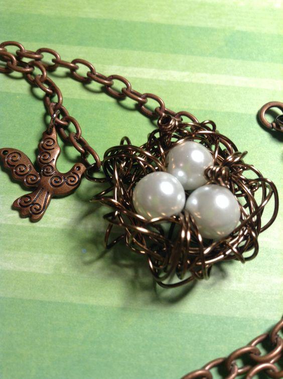 Bird's Nest with white eggs