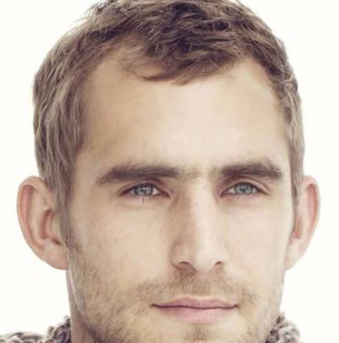 messy crop hairstyles for men with receding hairlines in ...