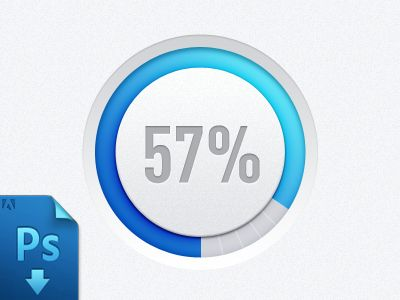 Dribbble - Progress bar(PSD freebie) by Virgil Pana