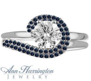 Wedding Ring Enhancers White Gold 84 Fancy Sapphire wedding ring enhancer