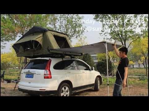 Set Up The Car Side Awning 2018 Sidecar Car Awning