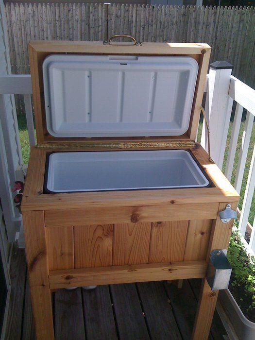 #DIY Patio / Deck Cooler Stand.  Genius!