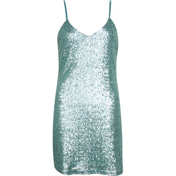 Callie Strappy Sequin Slip Dress (11.885 CLP) ❤ liked on Polyvore featuring dresses, short dress, short dresses, blue dress, strappy dress, short blue cocktail dresses and strap dress