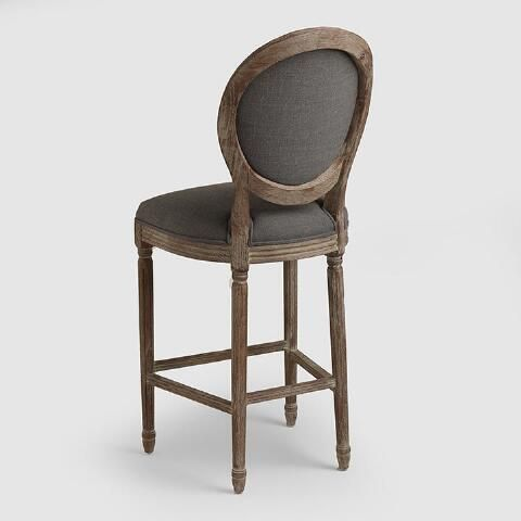 Superb Round Back Paige Upholstered Barstool Blue Fabric Machost Co Dining Chair Design Ideas Machostcouk