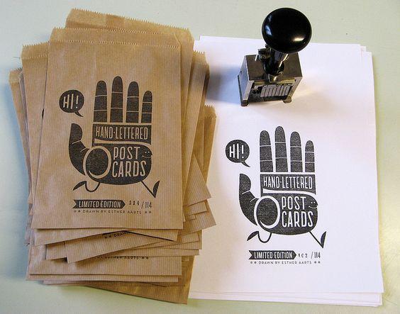 Hi-Five postcard set | Designer: Esther Aarts - www.estheraarts.nl