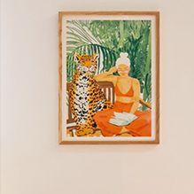 Jungle vacay poster by artist Uma Gokhale