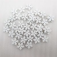 1Y45433  width:18mm high quality 100pcs/pack snowflake wooden button 1 packs, DIY handmade materials, wedding gift wrap