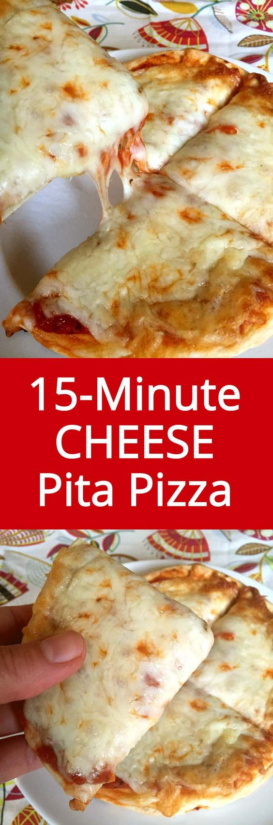 Easy 15-Minute Personal Cheese Pita Pizza Recipe - The Easiest Dinner Ever…