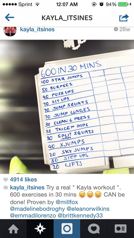 kayla itsines' instagram  • beginner workout •