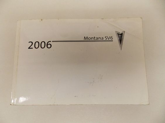 06 2006 Pontiac Montana Owners Manual Book Guide # 7924 -- Awesome products selected by Anna Churchill