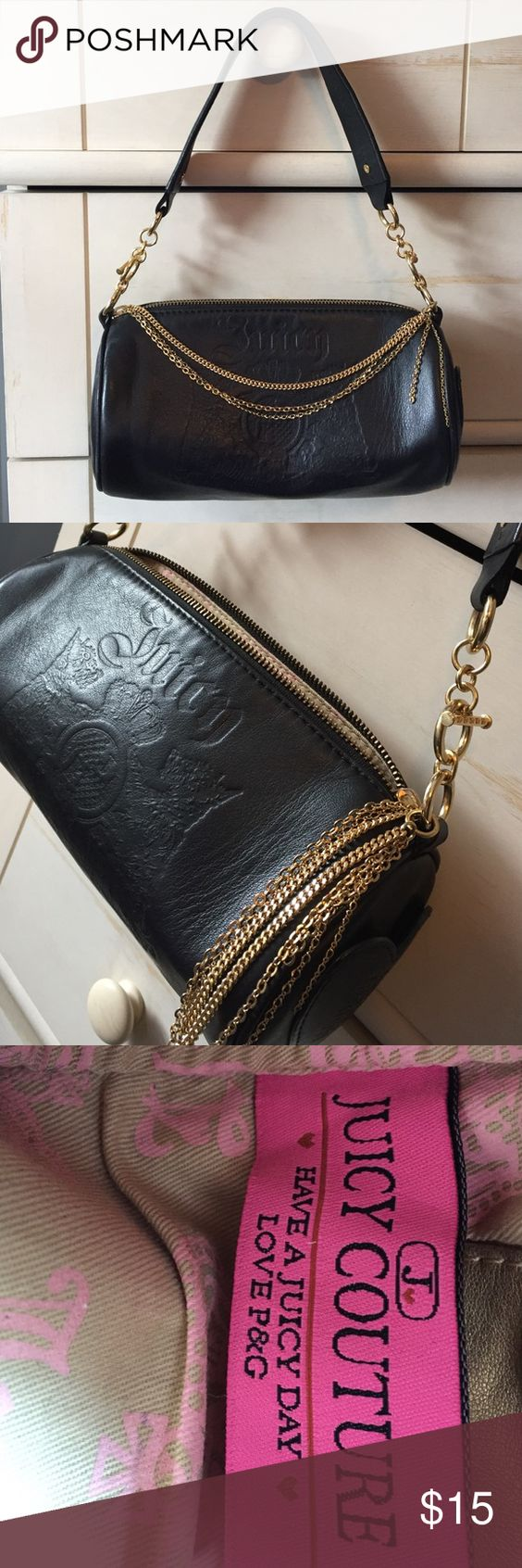 Juicy Couture Small Handbag Small purse for going out or if you just hold a few things...I love this purse but it's just not big enough for me.  Gentle used but great condition.  Leather purse with gold accents, super cute! Juicy Couture Bags Shoulder Bags