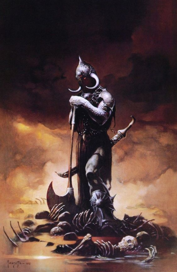 Love this artist...grew up with science fiction books laying around my house with Frazetta covers