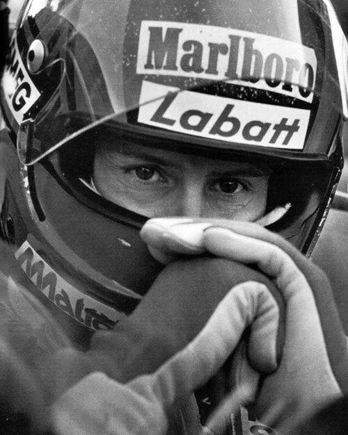 Close up of Gilles Villeneuve