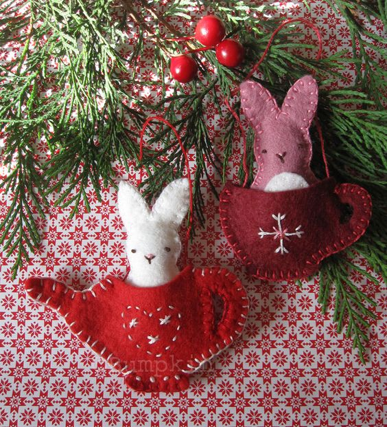 Felt Ornament PDF Sewing and Embroidery Pattern - Friends for Tea. €5.00, via Etsy.: