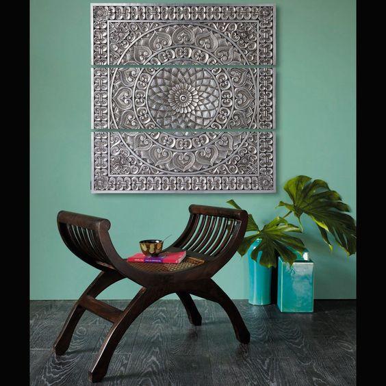 d coration murale bangorejo 179eur tableaux d coration pinterest rotin d co et tabourets. Black Bedroom Furniture Sets. Home Design Ideas