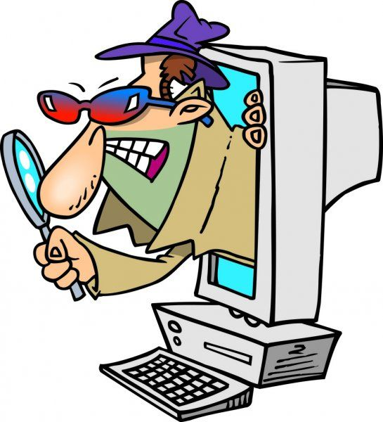 Cartoon Computer Spyware Stock Vector Sponsored Computer Cartoon Spyware Vector Ad Informatica Terminos Informaticos
