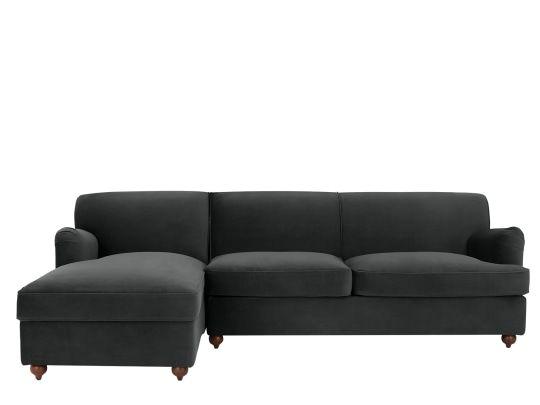 Custom Made Milner Eckschlafsofa Mit Stauraum Recamiere Links Nachtgrau Made Com Sofa Bett Vintage Sofa Sofa