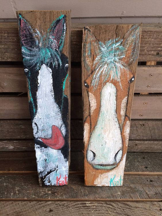 Folk Art Great Paintings And Barn Wood On Pinterest