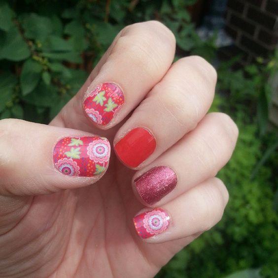 #jamberry #jamberrynails #nailart #nails #jamicure #fireenginejn #cherryicejn #nepalreliefjn