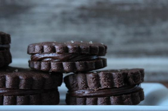 chocolate sandwich cookies. make yourself a batch and just enjoy the day. #Omaha #ontheblog