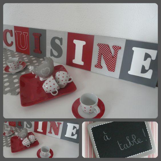 Tableau cuisine rouge et gris cuisine pinterest - Toile deco cuisine ...