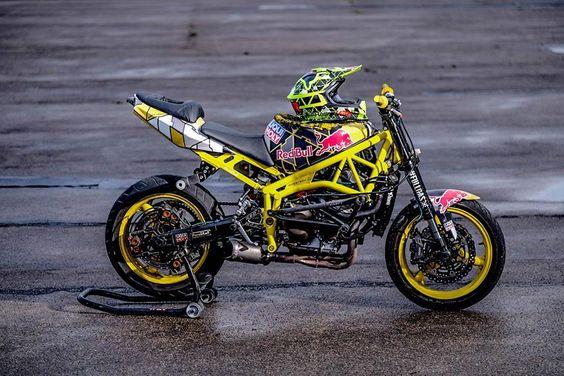 Yellow Red Bull Stunt Bike | Stunt Bike World