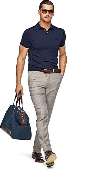 Pure Linen Light Brown Trousers: