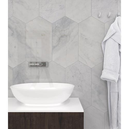 Bianco Blanco Oblong Marble Tile Bathroom Interior Design Marble Bathroom Marble Tile