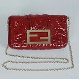 $219.00 Fendi First Choice for The Season 2298 red paint inclined pressure word sheep bag