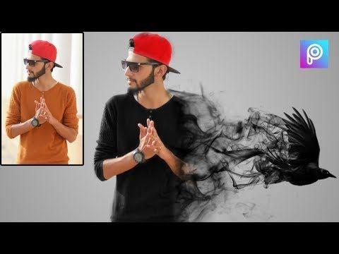 كيفية عمل تصميم الدخان المتطاير باستخدام الهاتف ببرنامج Picsart Youtube Design Diy Crafts Cards