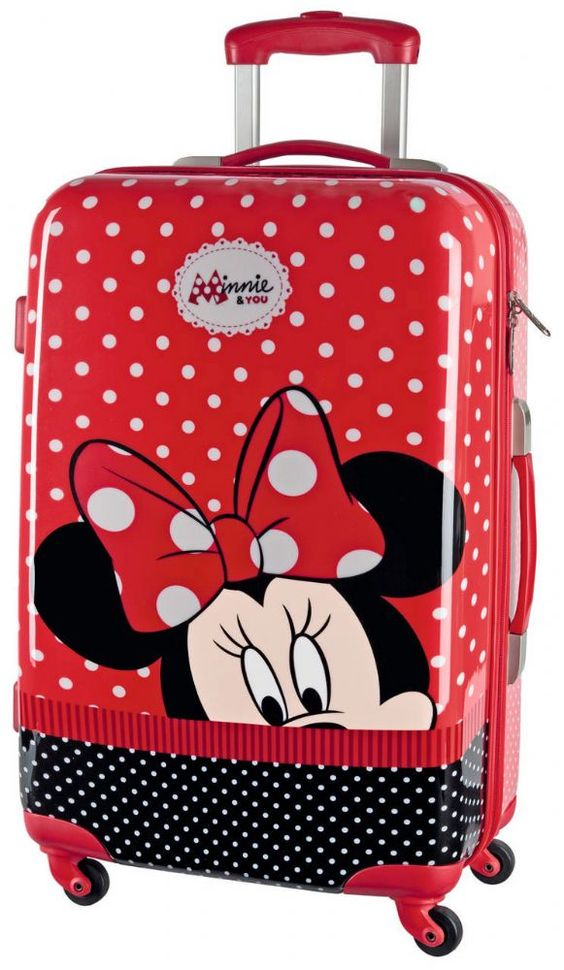 Disney top quality Hard shell ABS case in Minnie Mouse design You ll be ready for road trips home visits or holiday break when packing Disney luggage