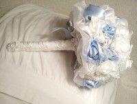 svadobná textilná kytica