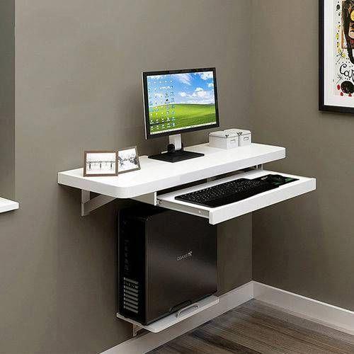 Computer Desk Keyboard Tray Slides Furnituremedan Computerdesk In 2020 Computer Desk Design Computer Table Design Computer Table