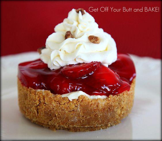 Strawberry Bavarian Cheesecake!  justgetoffyourbut... thank you!