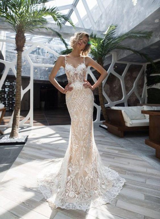 Stylish elegant wedding dress