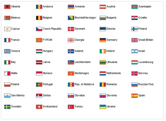 european country flags with names - Google Search