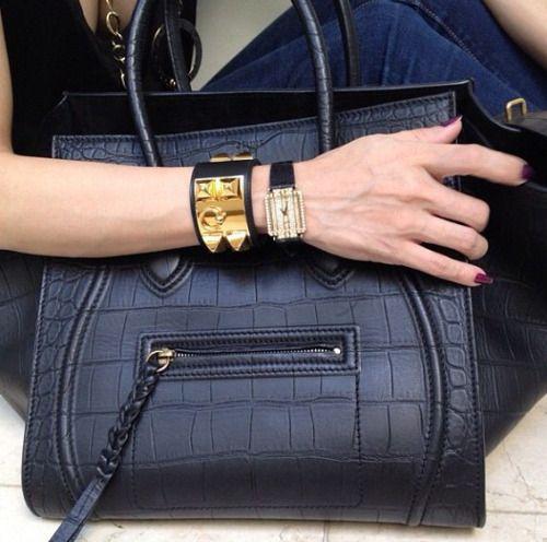 fake celine handbag - Black Embossed Crocodile Celine Phantom $2,210. | Celine Bags ...