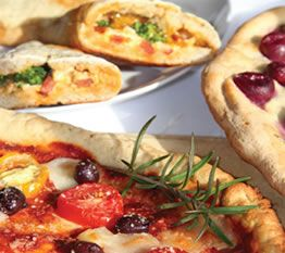 Gluten Free Master Dough recipe -  This gluten-free recipe makes enough for two 12-inch pizzas, six pizza pockets or one large focaccia. I often use it to make one pizza and 3 pizza pockets. No need to let the dough rise; it puffs up nicely in the oven.