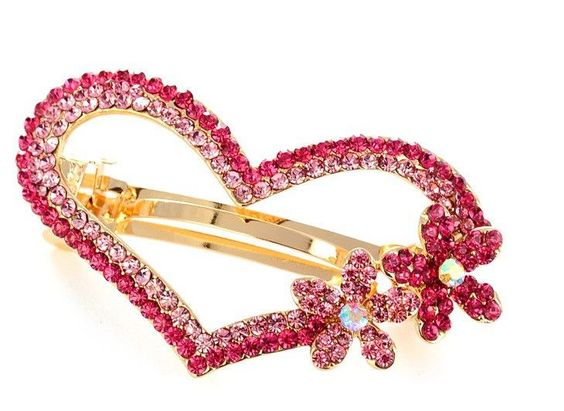 1Pcs Charming Rhinestone Flower Butterfly Hairgrip Crystal Diamond Bow-knot Love Heart Star Hair Clip Jewelry Headwear Barrette