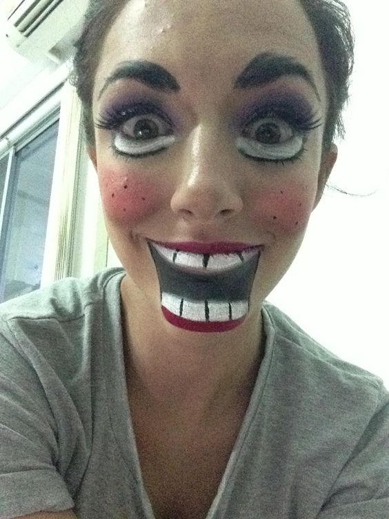 What necessary creepy doll makeup halloween costume