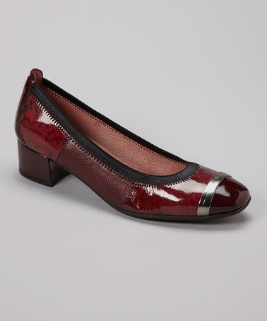 Bordeaux Charlotte Leather Pump by HISPANITAS